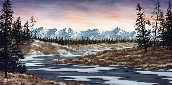 Snowscape Painting - Thin Ice by Rick Bainbridge