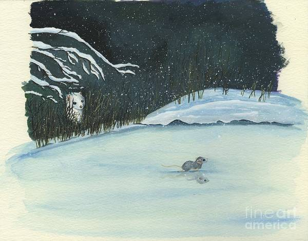 Drawing - Thin Ice by Rosellen Westerhoff