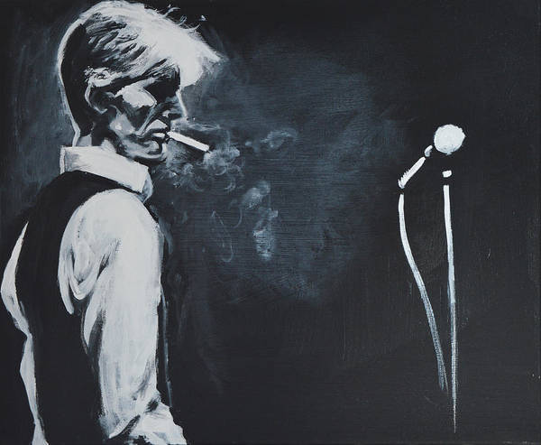 Bowie Painting - Thin White Duke by Melissa O'Brien