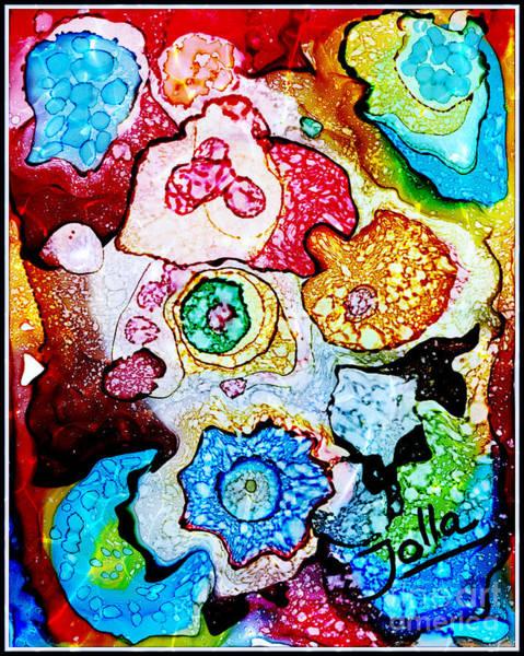 Painting - Think Ink.. by Jolanta Anna Karolska