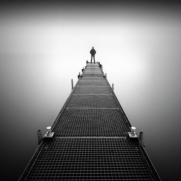 Alone Photograph - Thinking About You by Marco Maljaars