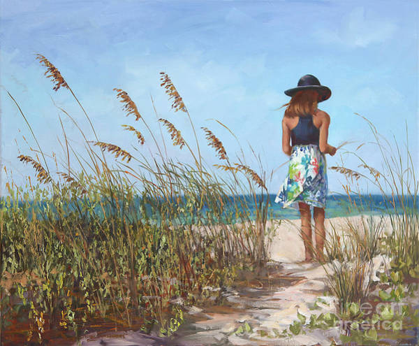 Sea Oats Painting - Thinking Of You by Laurie Snow Hein