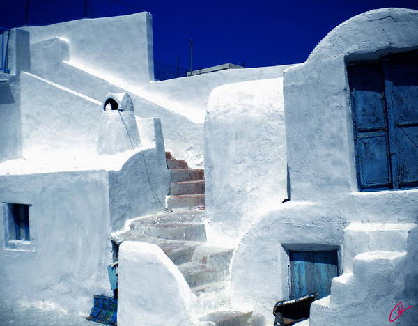 Photograph - Thirasia Island Ancient House Near Santorini Greece by Colette V Hera  Guggenheim
