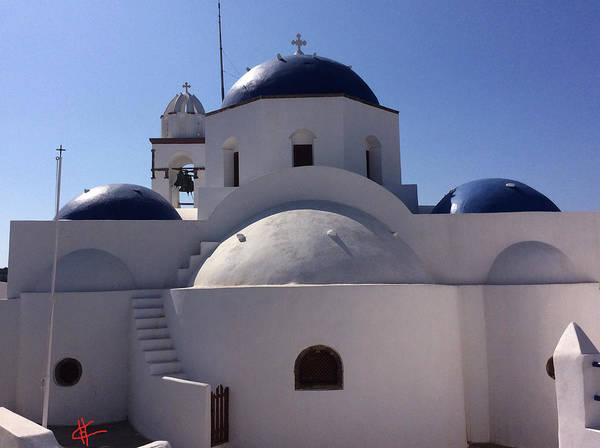 Photograph - Thirasia Santorini Island Greece by Colette V Hera  Guggenheim