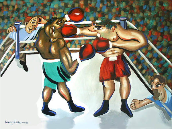 Wall Art - Painting - Third Round by Anthony Falbo