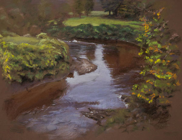 Pastel - Thirsty Creek by Christopher Reid
