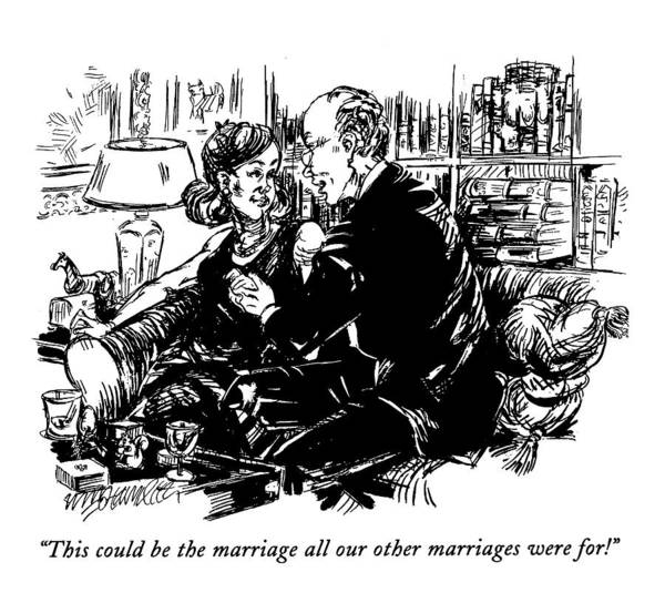 1993 Drawing - This Could Be The Marriage All Our Other by William Hamilton