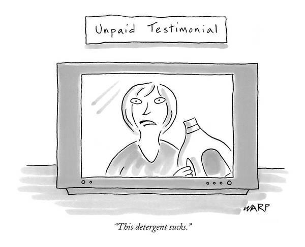 Advertising Drawing - This Detergent Sucks by Kim Warp