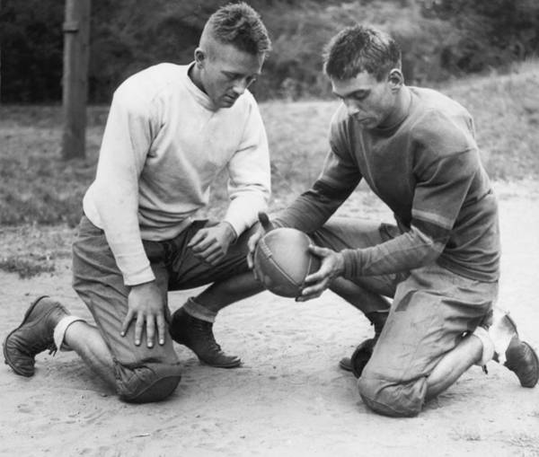 Exertion Wall Art - Photograph - This Is A Football by Underwood Archives