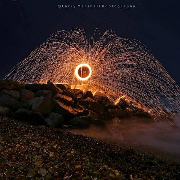 Wall Art - Photograph - This Is A Shot Of Me Spinning Burning by Larry Marshall