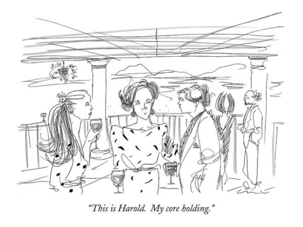 June 8th Drawing - This Is Harold.  My Core Holding by Richard Cline