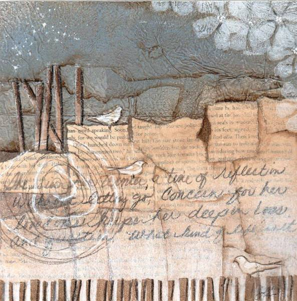Fence Mixed Media - This Is Her Winter Time by Laura  Lein-Svencner
