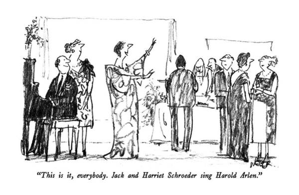 1987 Drawing - This Is It, Everybody.  Jack And Harriet by Robert Weber