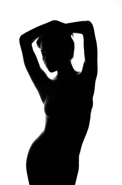 Silhouette Photograph - This Is Not A Black & White by Nick Amanda
