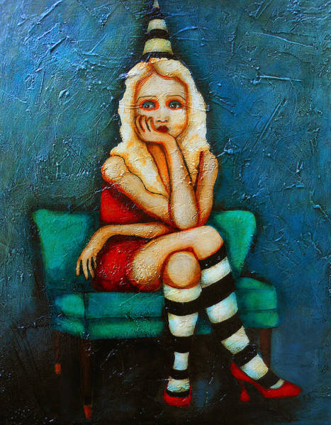 Crossed Legs Painting - This Party Blows by Sherry Dooley
