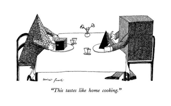 Meal Drawing - This Tastes Like Home Cooking by Mimi Gnol