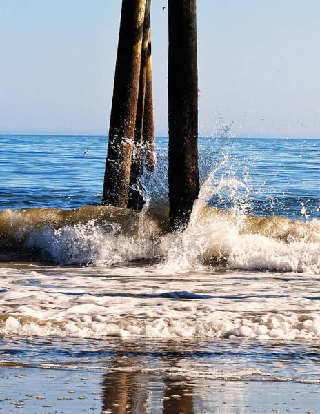 Digital Art - This Too Shall Pass Waves At Myrtle Beach by Chris Flees