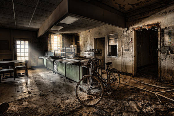 Wall Art - Photograph - This Would Be The End - Cafeteria - Abandoned Asylum by Gary Heller