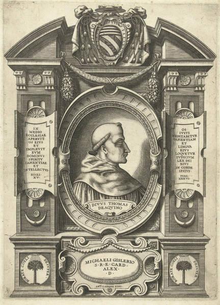 Wall Art - Drawing - Thomas Aquinas, Jacob Bos, Antonio Lafreri by Jacob Bos And Antonio Lafreri And Antonio Michele Ghislieri