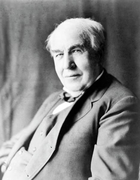 Wall Art - Photograph - Thomas Edison by Library Of Congress/science Photo Library