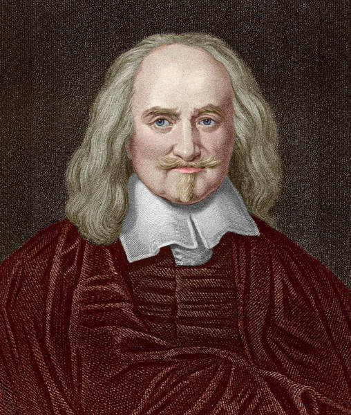 Philosopher Wall Art - Photograph - Thomas Hobbes by Sheila Terry/science Photo Library