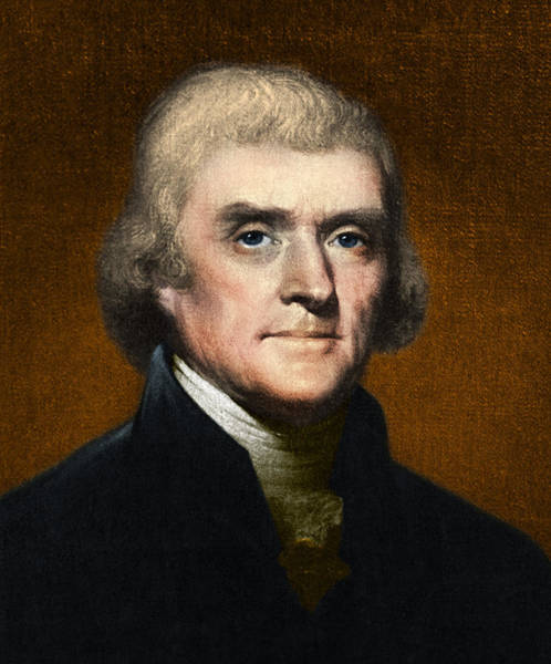 Louisiana Purchase Painting - Thomas Jefferson, 3rd U.s. President by Omikron