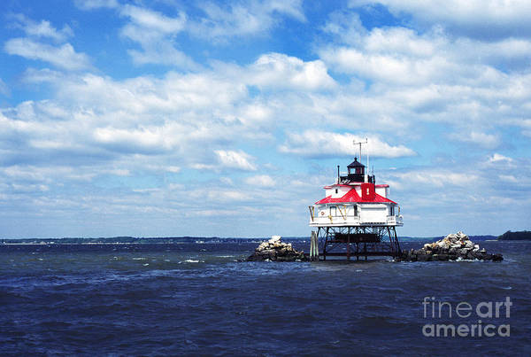 Photograph - Thomas Point Shoal Lighthouse by Thomas R Fletcher
