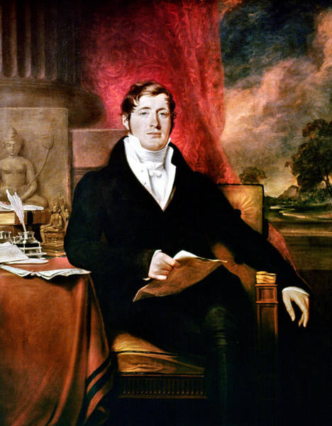 Inkwell Painting - Thomas Stamford Raffles (1781-1826) by Granger