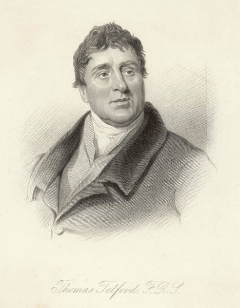 Wall Art - Drawing - Thomas Telford, Engineer, Bust Portrait by Mary Evans Picture Library
