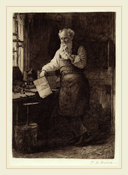 Wall Art - Drawing - Thomas Waterman Wood, Thinking It Over, American by Litz Collection