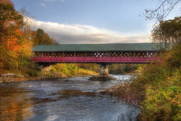 Photograph - Thompson Covered Bridge 2 by Joann Vitali
