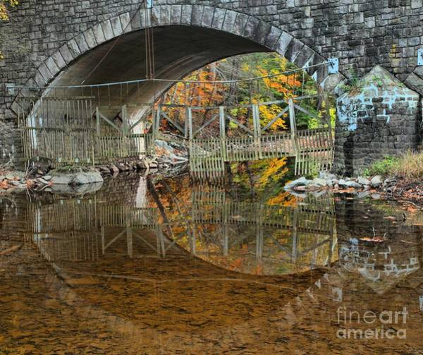 Photograph - Thompson-neely Bridge Reflections by Adam Jewell