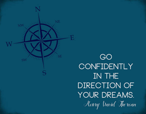 Graduation Digital Art - Thoreau Compass by Nancy Ingersoll