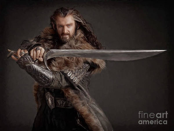 Smaug Painting - Thorin Oakenshield by Accelerated Vision Photography