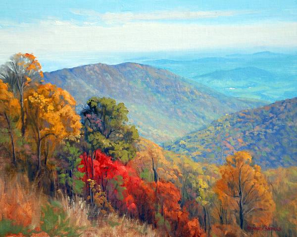 Shenandoah Wall Art - Painting - Thornton Gap by Armand Cabrera