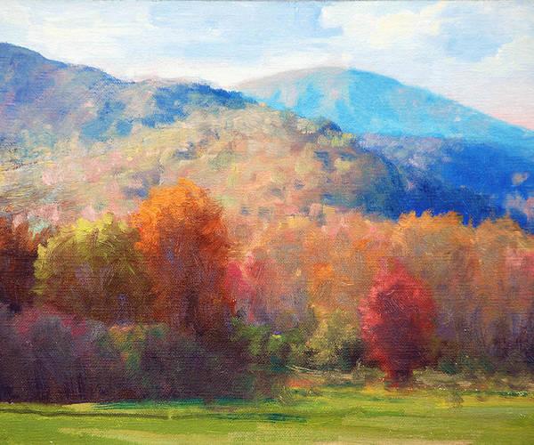 Wall Art - Painting - Thornton Gap Autumn by Armand Cabrera