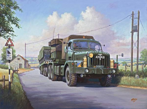 Tank Painting - Thornycroft Antar. by Mike Jeffries