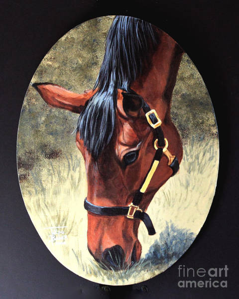 Painting - Thoroughbred Head by Art By - Ti   Tolpo Bader