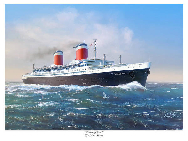The Blues Brothers Painting - Thoroughbred - Ss United States by Mark Karvon