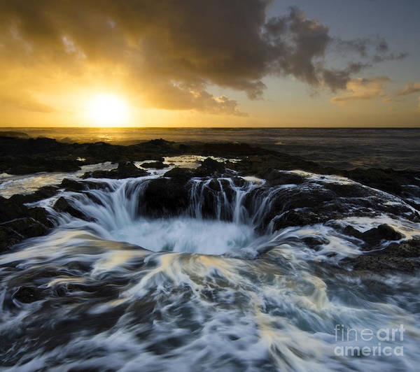Wall Art - Photograph - Thors Well Into The Depths by Bob Christopher