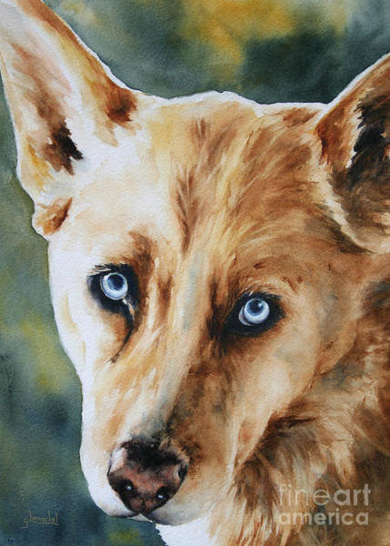 Painting - Those Eyes by Glenyse Henschel