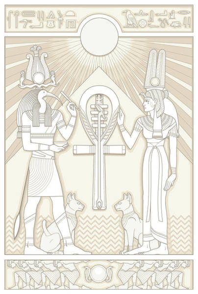 Thoth Digital Art - Thoth And Isis by Matthew Kocvara