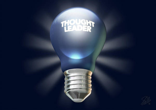 Thought Digital Art - Thought Leader by Allan Swart