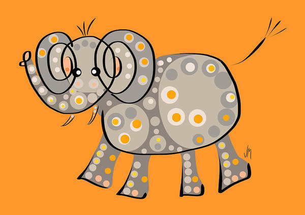 Thought Digital Art - Thoughts And Colors Series Elephant by Veronica Minozzi