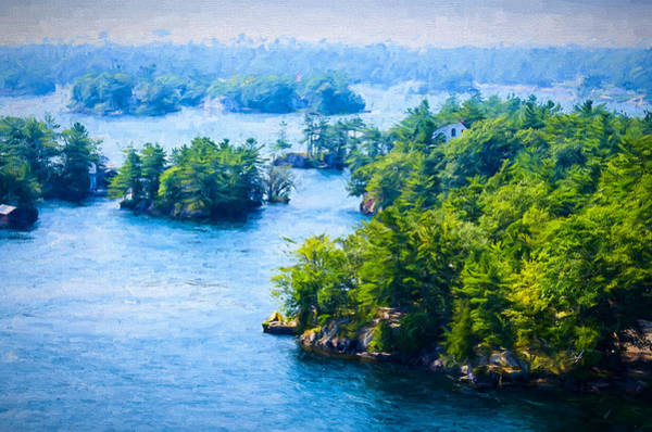 Photograph - Thousand Islands In Ontario by Les Palenik
