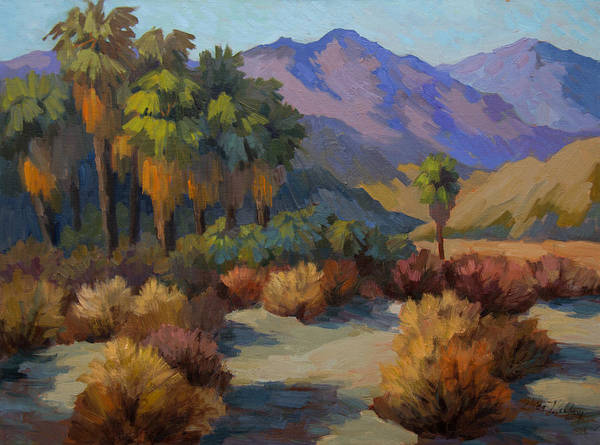 Canaries Painting - Thousand Palms by Diane McClary