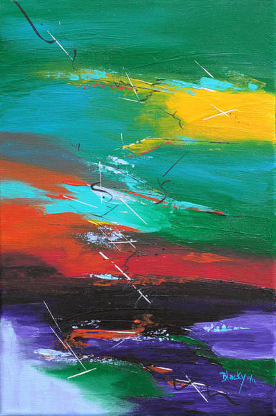 Non Representational Painting - Thread Of Hope by Donna Blackhall