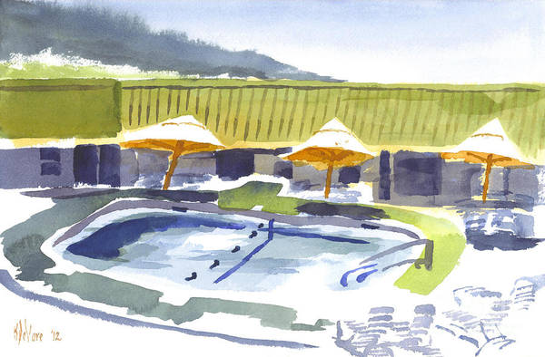 Painting - Three Amigos Poolside by Kip DeVore