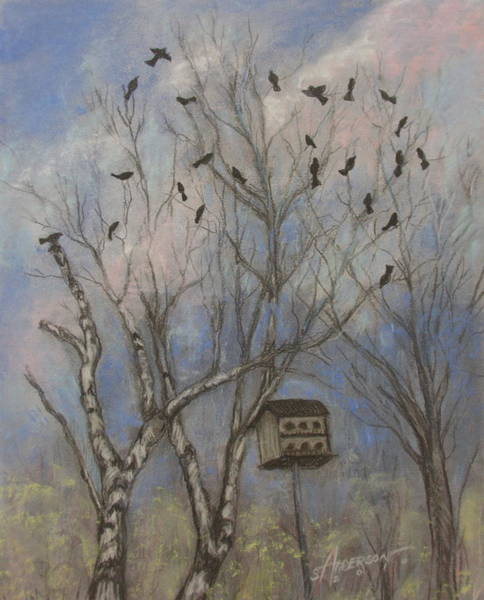 Pastel - Three And Twenty Blackbirds by Sherri Anderson
