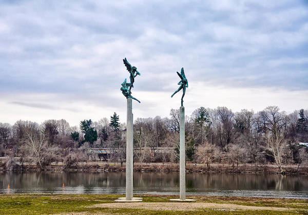 Photograph - Three Angels In Fairmount Park by Bill Cannon